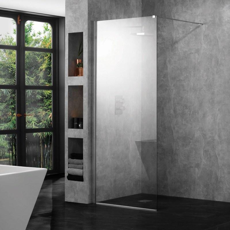 Aquadart 10mm 1200mm Wetroom Panel Clear Glass