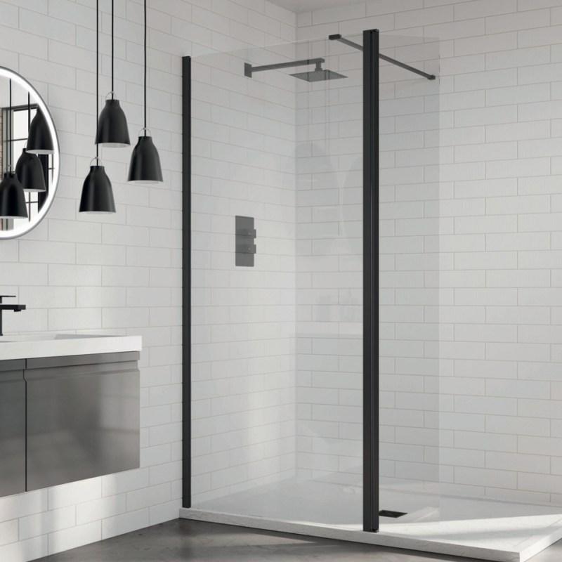 Aquadart 8 Wetroom Glass Panel 900mm Clear