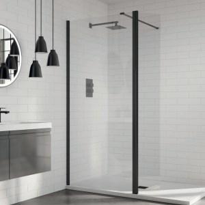 Aquadart 8 Wetroom Glass Panel 1100mm Clear