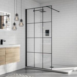 Aquadart 8 Wetroom Glass Panel 1100mm Matrix
