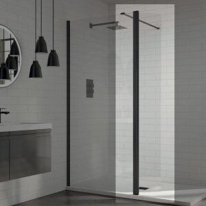 Aquadart 8 Wetroom Glass Panel 700mm Clear