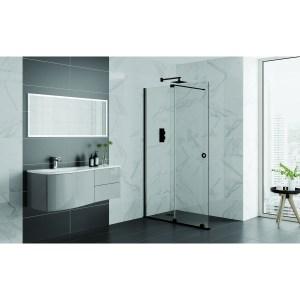 Aquadart Rolla 8 Sliding Wetroom Door 1000mm Matt Black