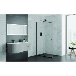 Aquadart Rolla 8 Sliding Wetroom Door 1100mm Matt Black