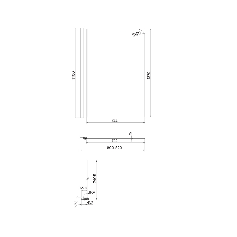 Aquadart Venturi 6 Single Bath Screen