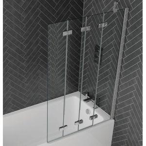 Aquadart Venturi 6 Frameless 4 Fold Bath Screen Right Hand