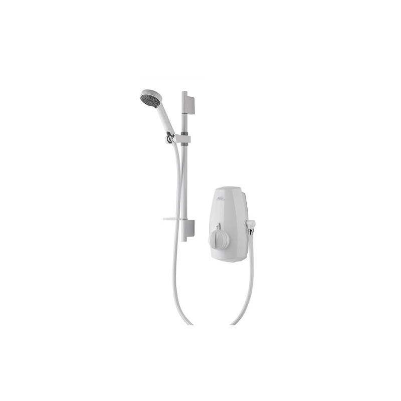 Aqualisa Aquastream Thermo with 90mm Harmony Head - White