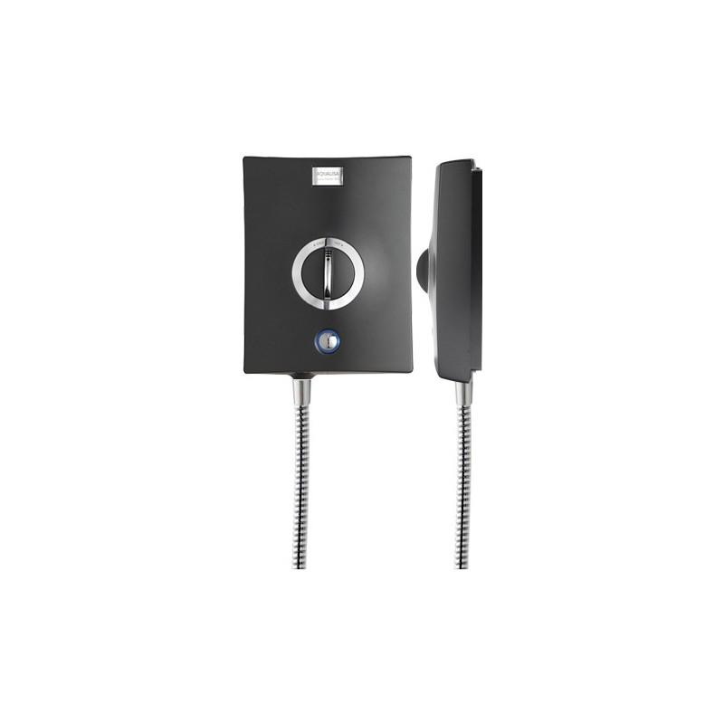 Aqualisa Quartz Electric with Head 10.5kW - Graphite/Chrome