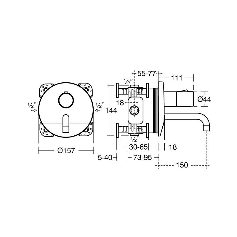 Armitage Shanks Sensorflow Wave Thermostatic Basin Mixer A6165
