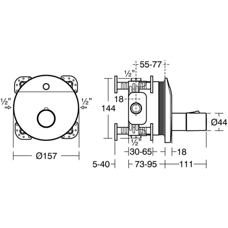 Armitage Shanks Sensorflow Wave Shower Valve, Mains A6173