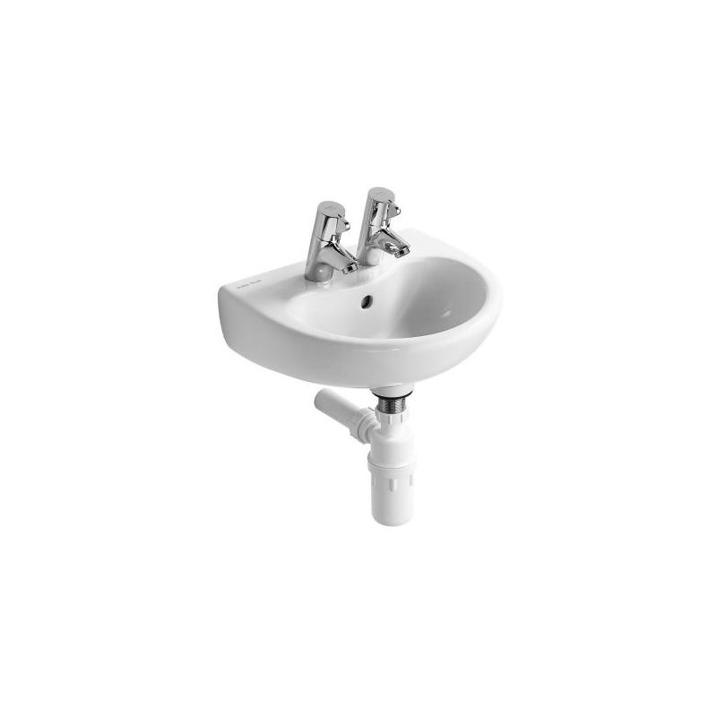 Armitage Shanks Contour 21 Splash Basin 40x33 2 Taphole S2636