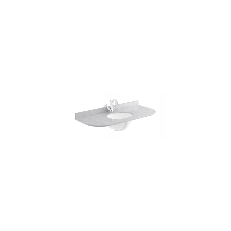 Bayswater 1000mm Single Bowl Curved 1 Hole Grey Marble Top
