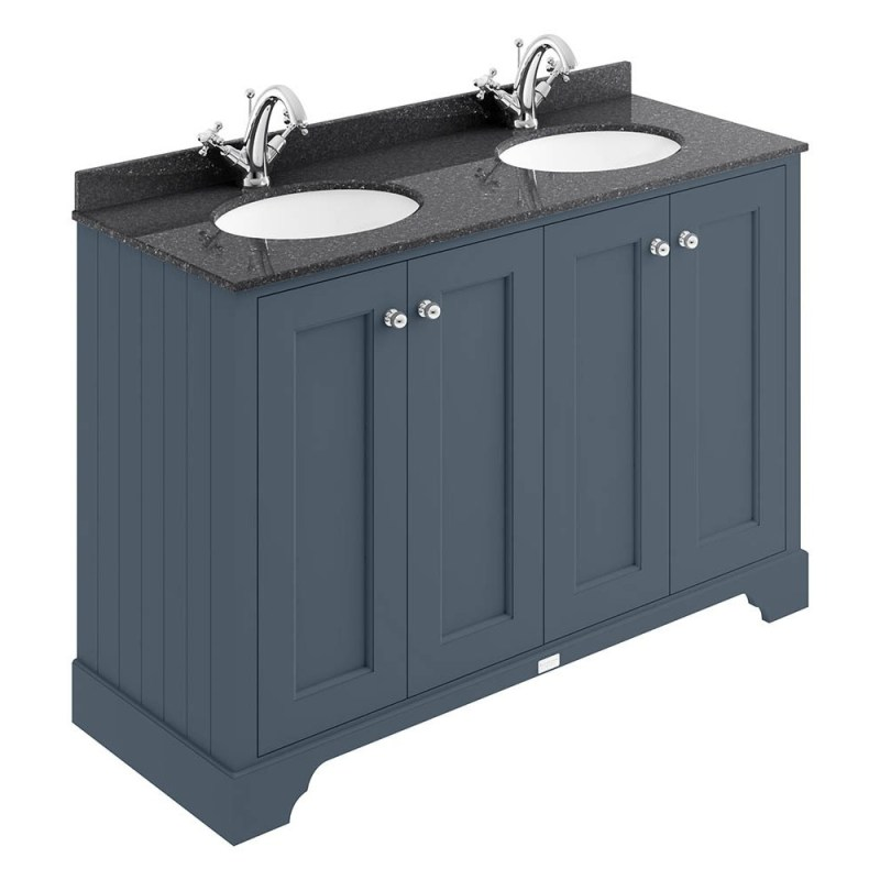 Bayswater Stiffkey Blue 1200mm 4 Door Basin Cabinet