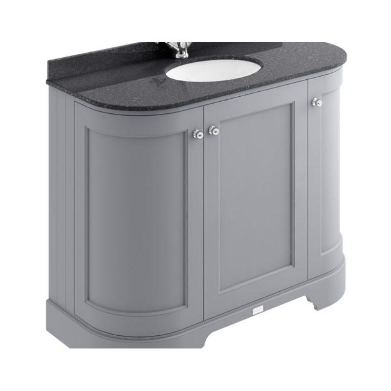 Bayswater 1000mm 3 Door Curved Basin Cabinet Grey