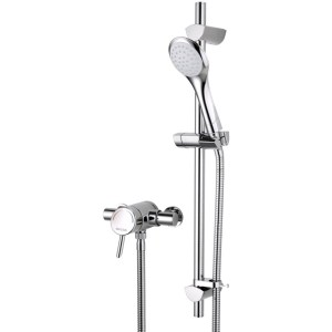 Bristan Acute Thermostatic Surface Mounted Shower Valve & Riser