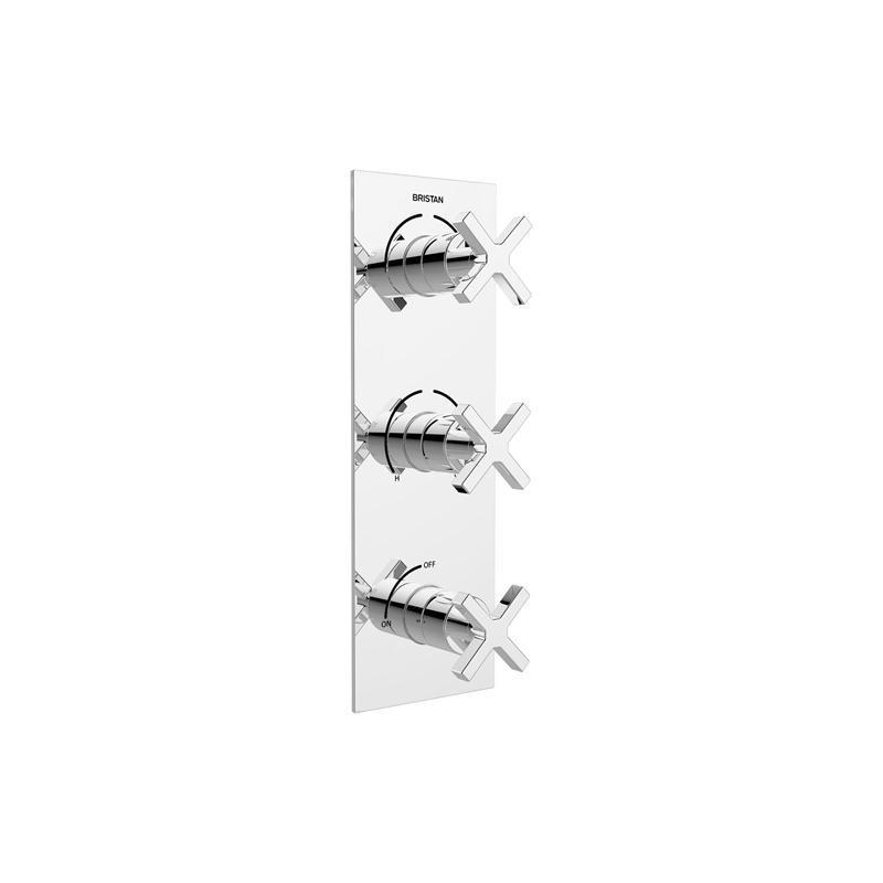 Bristan Cascade Recessed Shower Valve with Diverter & Stopcock