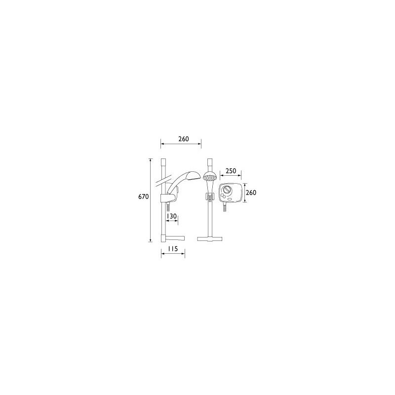 Bristan Hydropower Thermostatic Power Shower White