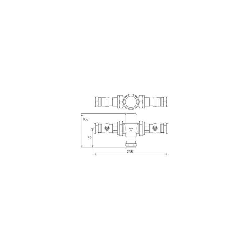 Bristan Gummers 22mm Thermostatic Mixing Valve with Isolation