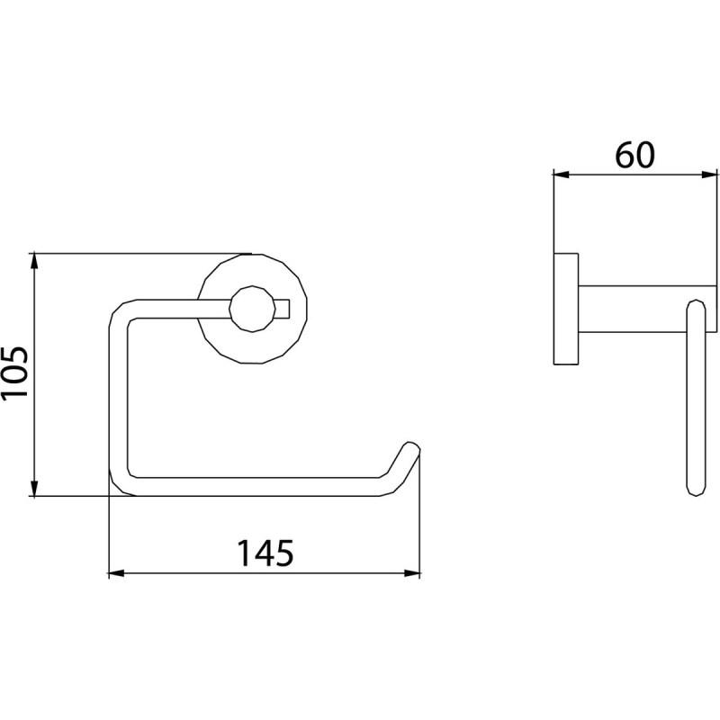 Bristan Round Toilet Roll Holder Brass Chrome