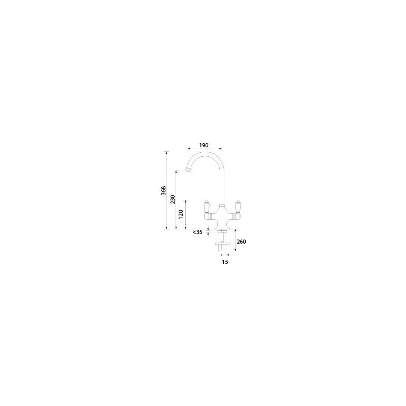Bristan Reniassance Easyfit Sink Mixer Chrome
