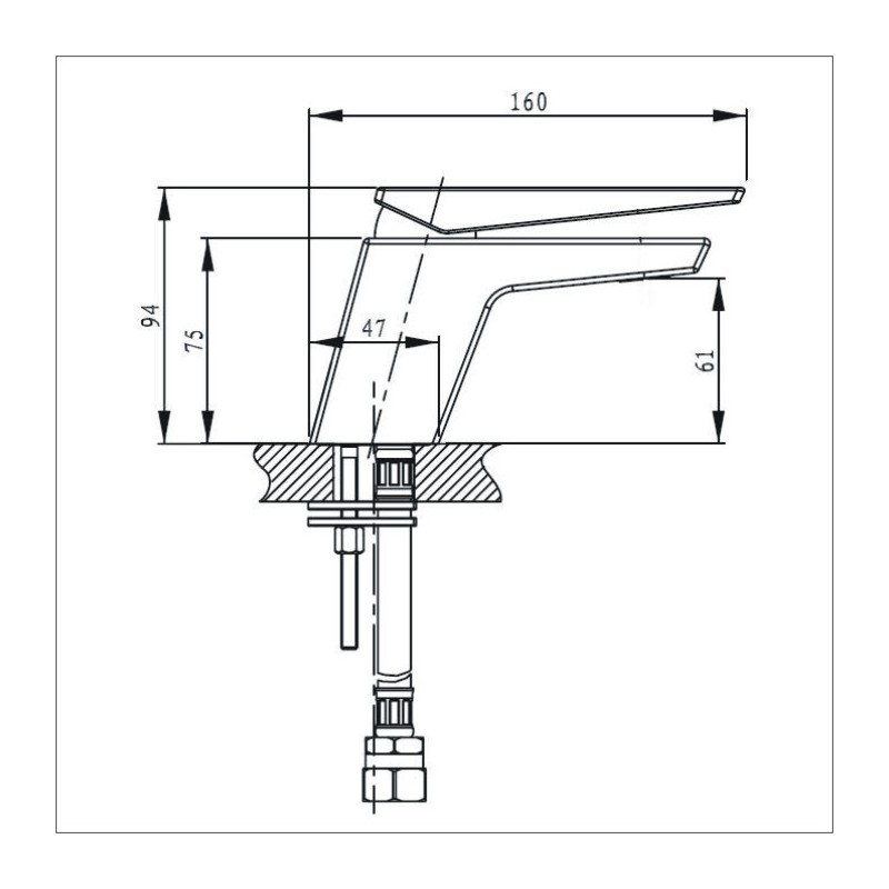 Bristan Sail Basin Mixer Chrome