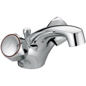 Bristan Club Dual Flow Basin Mixer with Waste - Metal Heads