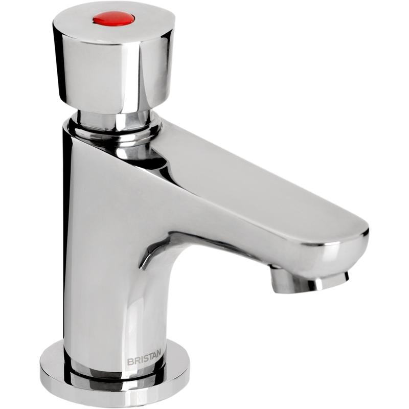 Bristan Single Pillar Basin Soft Touch Timed Flow Tap Chrome