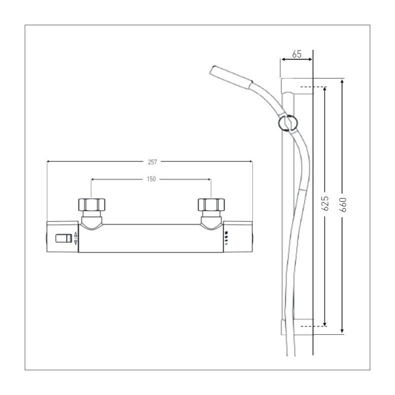 Bristan Zing Cool Touch Bar Mixer & Kit