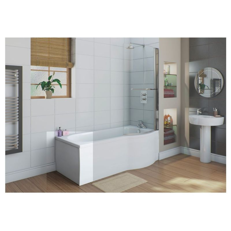 Bathrooms To Love White Flat 700mm Shower Bath End Panel