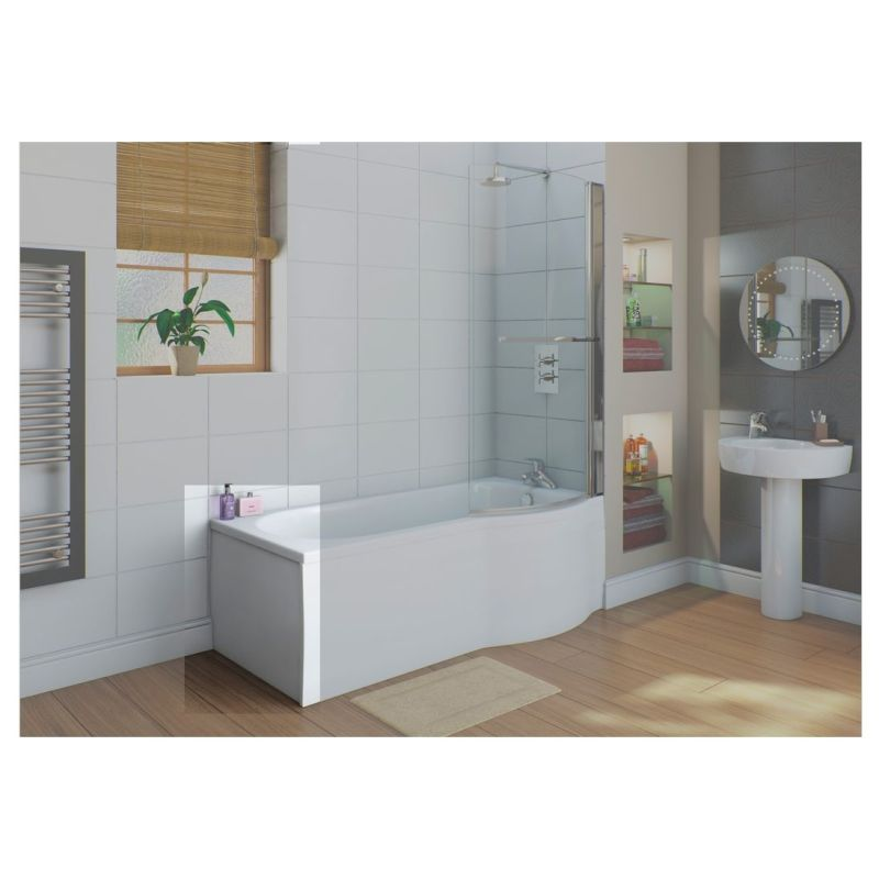 Bathrooms To Love White Flat 750mm Shower Bath End Panel