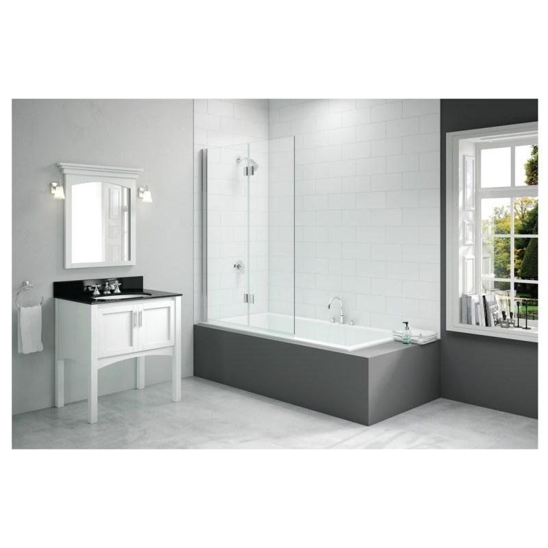 Merlyn 900x1500mm 2-Panel Hinged Bath Screen Left Hand