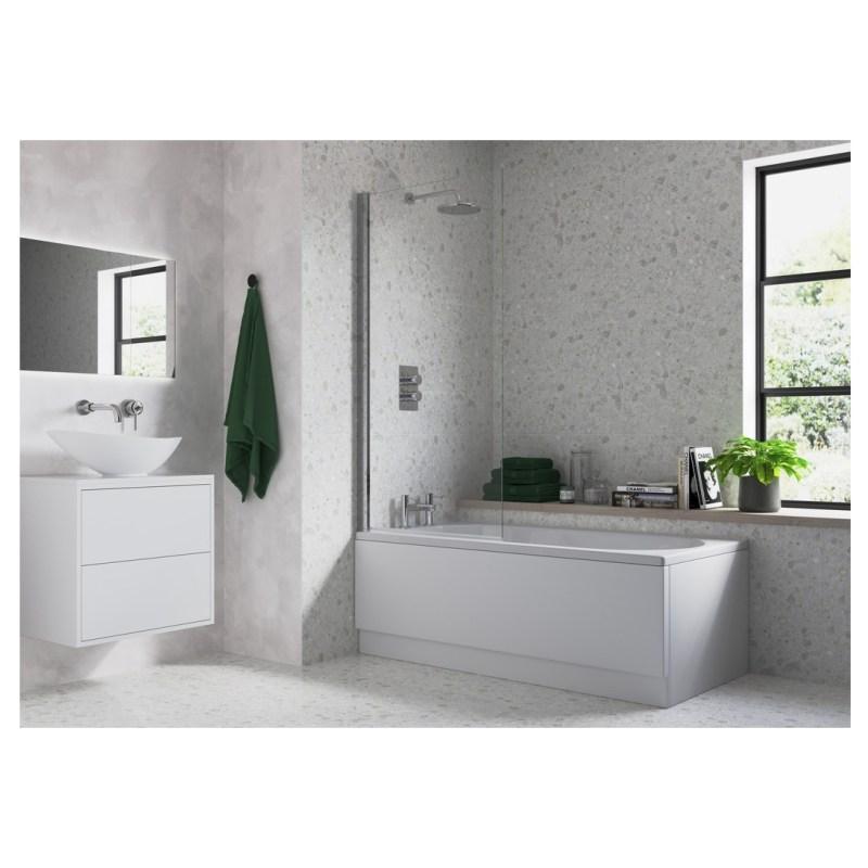 Bathrooms To Love Single Straight Edge Bath Screen