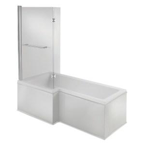 Bathrooms To Love Solarna L Shape 1500x700mm LH Shower Bath Pack