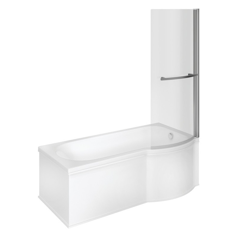 Bathrooms To Love P-Shape 1675mm Shower Bath Pack Right