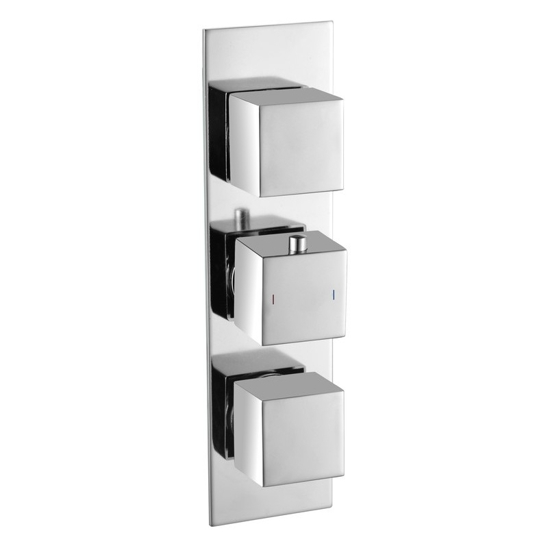 Bathrooms To Love Rhomba 3 Outlet Slim Plate Triple Shower Valve