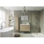 Bathrooms To Love Perla 600mm 2 Drawer Wall Vanity Unit Havana Oak