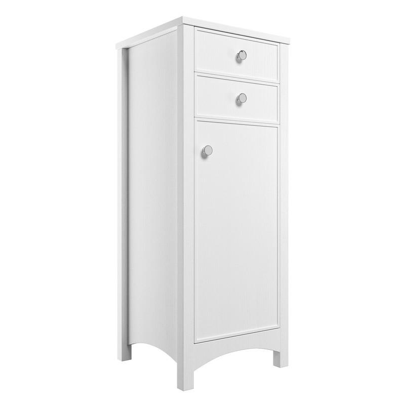 Bathrooms To Love Lucia 465mm Tall Boy Satin White Ash