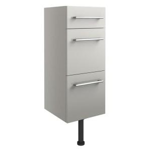 Bathrooms To Love Alba 300mm 3 Drawer Unit Light Grey Gloss