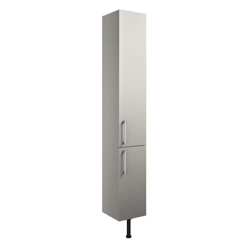 Bathrooms To Love Alba 300mm 2 Door Tall Unit Light Grey Gloss