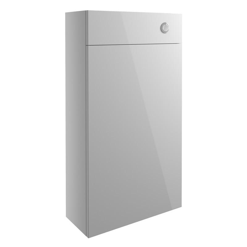 Bathrooms To Love Alba 500mm Slim WC Unit Light Grey Gloss