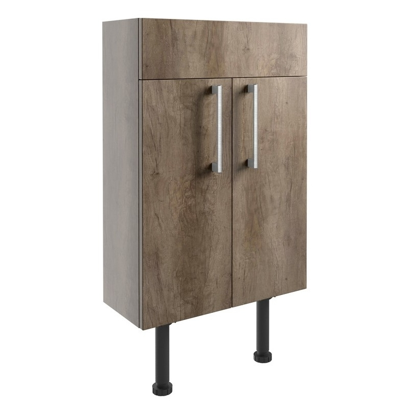 Bathrooms To Love Alba 500mm Slim Vanity Unit Grey Nebraska Oak