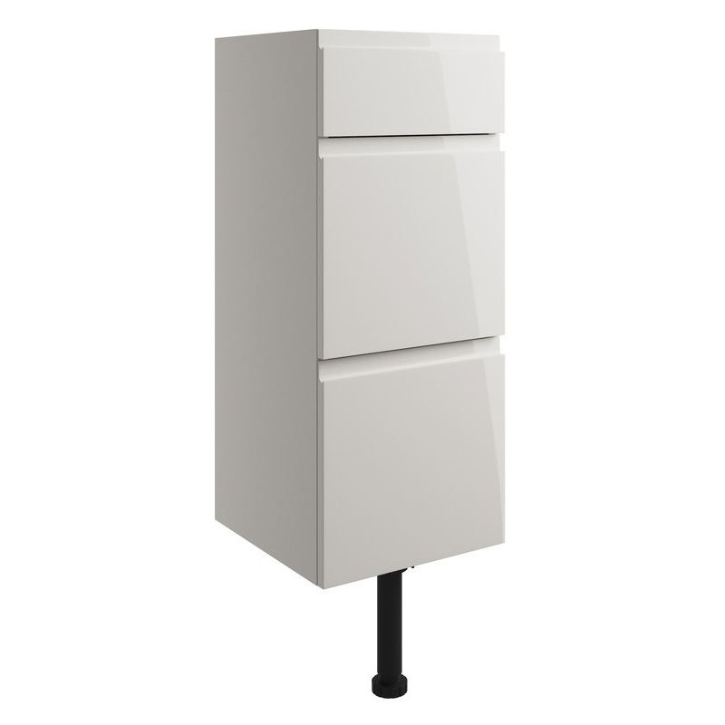 Bathrooms To Love Valesso 300mm Drawer Unit Pearl Grey Gloss