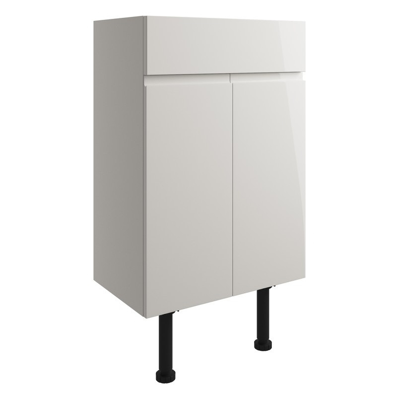 Bathrooms To Love Valesso 500mm Vanity Unit Pearl Grey Gloss