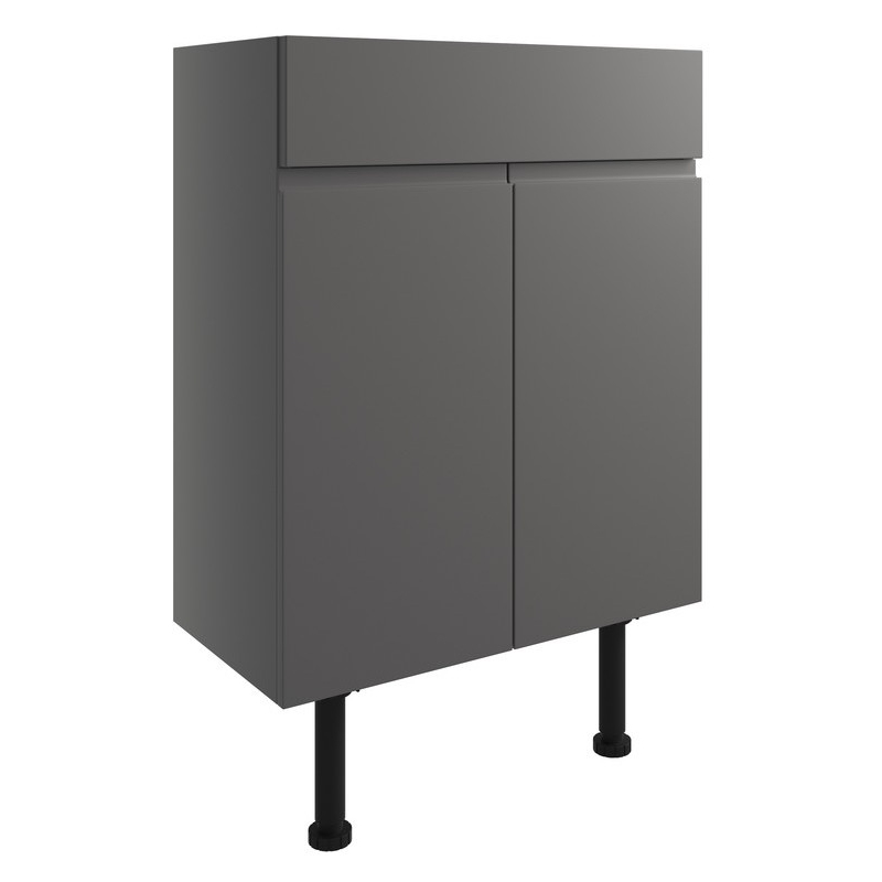 Bathrooms To Love Valesso 600mm Vanity Unit Onyx Grey Gloss
