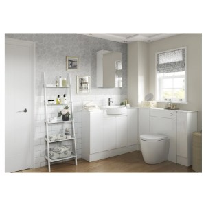 Bathrooms To Love Valesso 2200x330mm Tall End Panel White