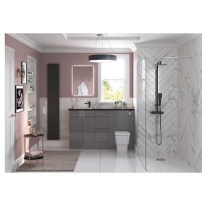 Bathrooms To Love Valesso 2400mm Plinth Onyx Grey Gloss