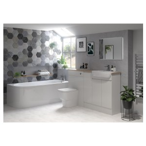 Bathrooms To Love Valesso 2400mm Plinth Pearl Grey Gloss