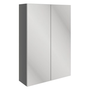 Bathrooms To Love Valesso 500mm Slim Mirrored Wall Unit Onyx Grey