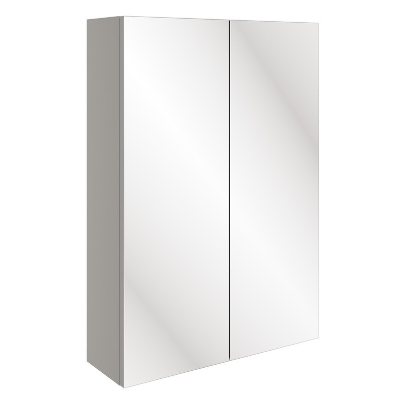 Bathrooms To Love Valesso 500mm Slim Mirrored Wall Unit Pearl Grey