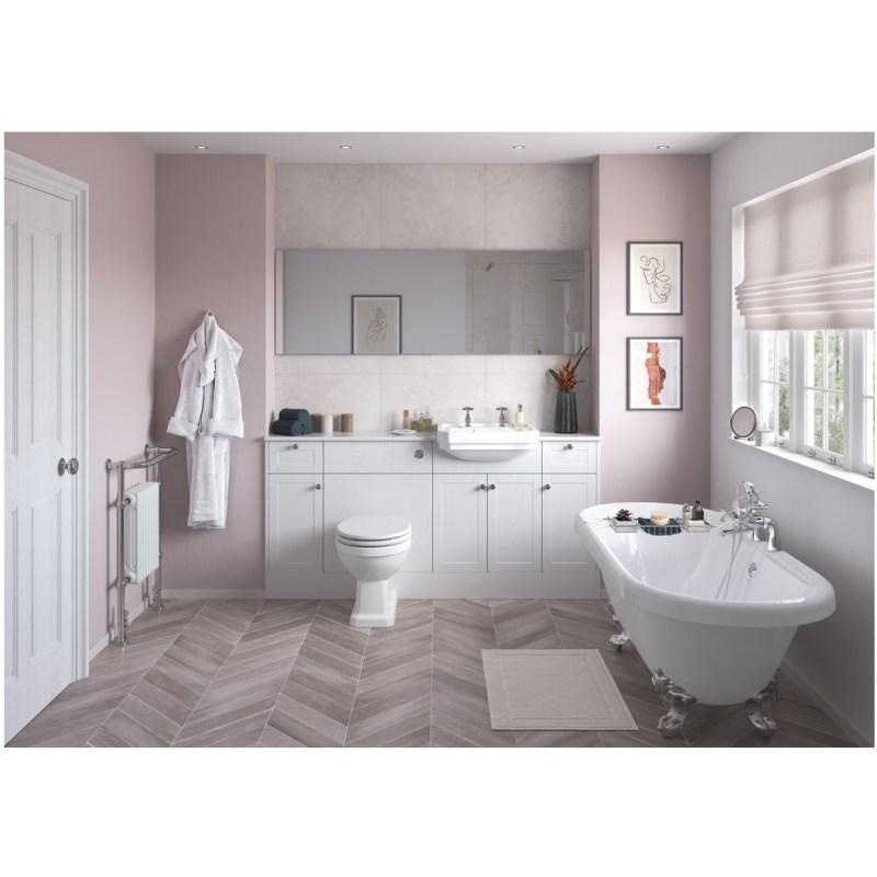 Bathrooms To Love Benita 300mm Base Unit Satin White Ash
