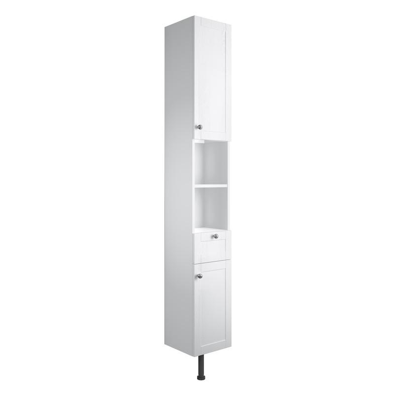Bathrooms To Love Benita 300mm 2 Door Tall Unit Satin White Ash
